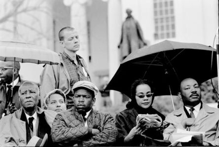 Steve Schapiro, 'Philip Randolph, John Lewis, Coretta Scott King, and Martin Luther King on the Steps of Montgomery Capitol after the Selma March concluded', 1965