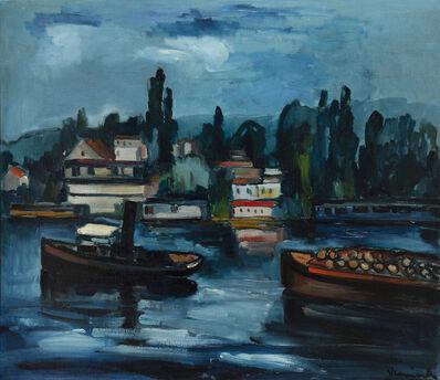Maurice de Vlaminck, 'Péniches sur la Seine', 1908