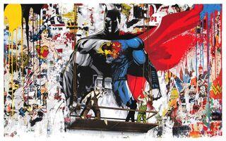 Mr. Brainwash, 'Batman vs. Superman', 2016