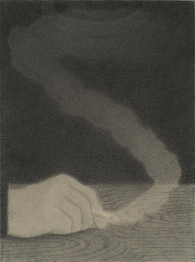 Johnny Izatt-Lowry, 'Self portrait, smoking', 2020