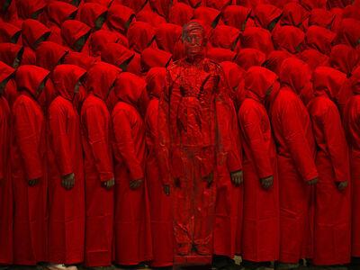 Liu Bolin, 'Hiding in the City -Red No. 2', 2012