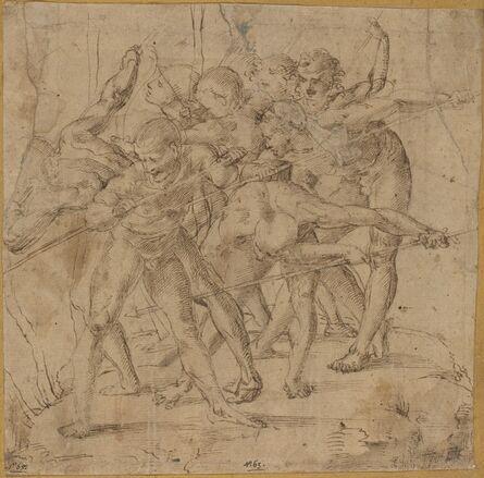Girolamo Genga, 'Battle Scene'