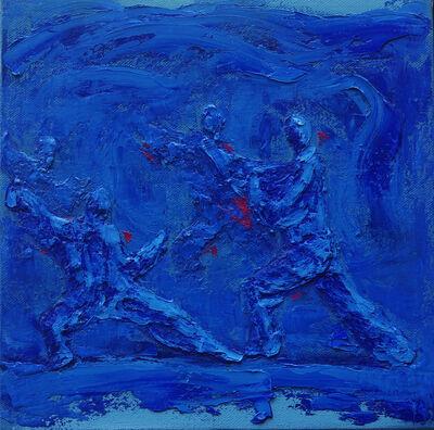 Yu Nancheng 于南澄, 'Martial Arts I (Blue)', 2016