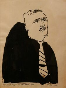 Vicente Rojo, 'Retrato de Lezama Lima (Lezama Lima portrait)', 1968