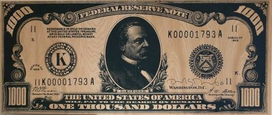 Richard Duardo, 'One Thousand Dollars Silkscreen on Wood', 1988