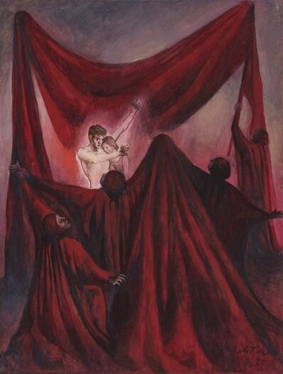 Pavel Tchelitchew, 'Untitled (Couple and Red Cloaks)', 1935