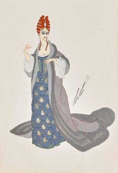 Erté (Romain de Tirtoff), 'Martha, Act I (Chicago Opera), 1925', 1923