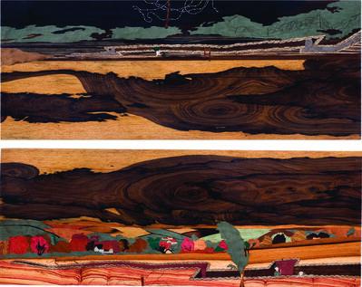 Sebastián Gordín, 'Amanece en las trincheras (Díptico) /Sunrise in the trenches (Diptych)', 2011