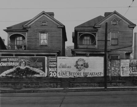 Walker Evans, 'Houses and Billboards, Atlanta', 1936