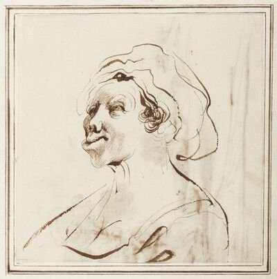 Guercino, 'Woman with Deformed Lips', 1630s-40s
