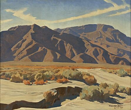 Lafayette Maynard Dixon, 'Desert Ranges', 1940