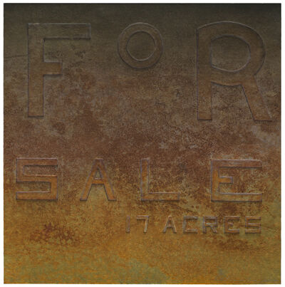 Ed Ruscha, 'Rusty Signs - For Sale', 2014