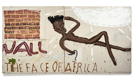 Rose Wylie, 'Face of Africa, Wall', 2016