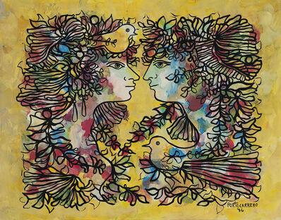 René Portocarrero, 'Dos mujeres y palomas', 1976