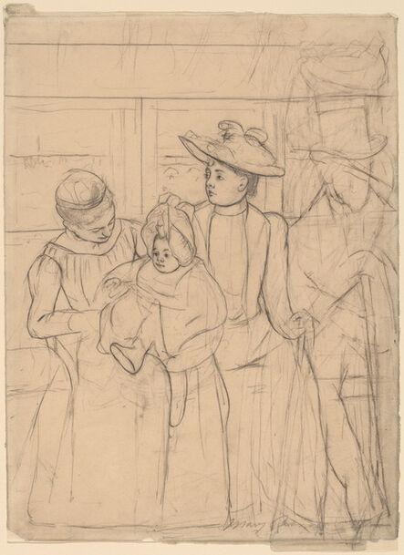Mary Cassatt, 'In the Omnibus [recto]', ca. 1891