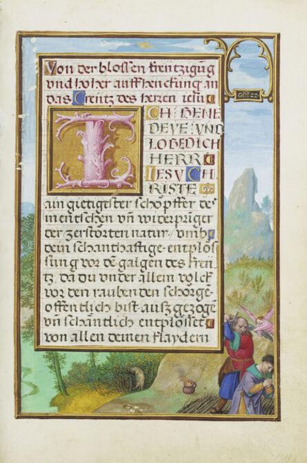 Simon Bening, 'Border with the Sacrifice of Isaac', 1525-1530