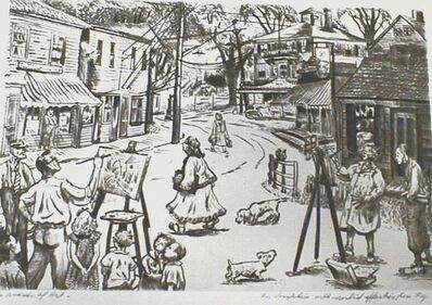 Peggy Bacon, 'The Invasion of Art', 1943