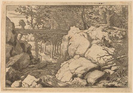 Allart van Everdingen, 'Goat on a small Bridge', probably c. 1645/1656