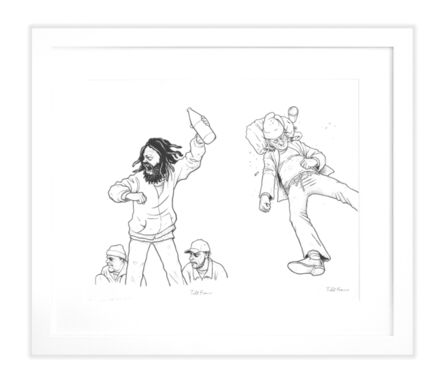 """Todd Francis, '""""VAGRANT ALL STARS"""" PITCHER/ THIRD BASE DRAWING'"""