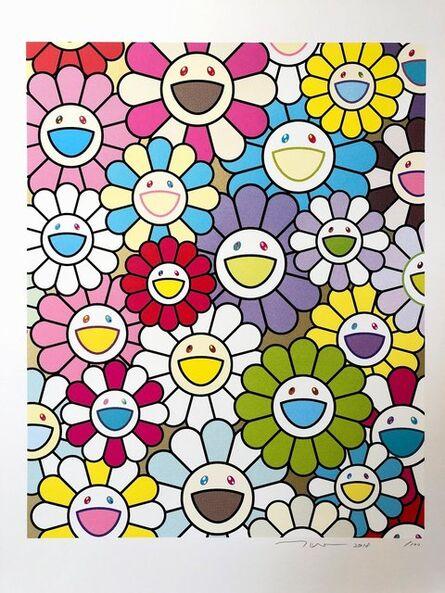 Takashi Murakami, 'A Little Flower Painting: Yellow, White and Purple Flowers', 2017