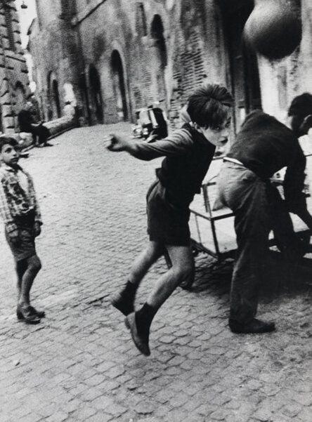 William Klein, 'Street Football, Rome', 1956