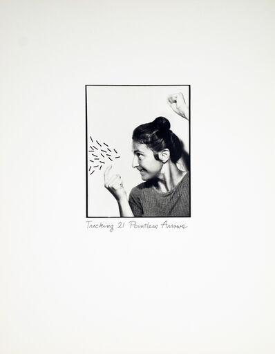 Roberta Allen, 'Tricking 21 Pointless Arrows', 1976