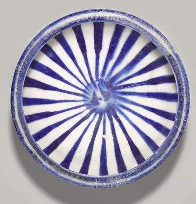 'Blue and White Bowl with Radial Design', 13th century