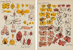 Andy Warhol, 'Happy Bug Day; and Happy Butterfly Day', 1955