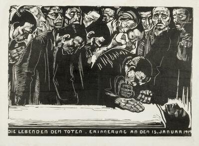 Käthe Kollwitz, 'In Memoriam Karl Liebknecht', 1920