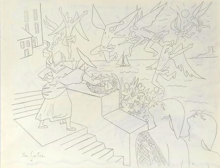 Jean Cocteau, 'La Baie des Anges – The Bay of Angels. Study for the Villefranche Chapelle Saint-Pierre', 1956