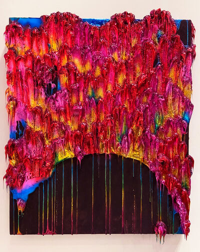 John Monn, 'Atheris Painting (Bubblegum)', 2020