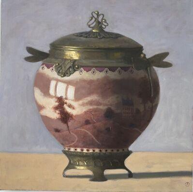 Olga Antonova, 'Burgundy Art Noveau Vase', 2020