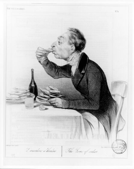 Honoré Daumier, 'L'amateur d'huitres (The lover of Oysters)', December 7-1836