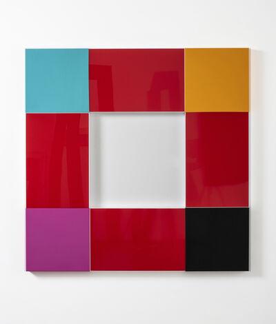 Renata Tassinari, 'Quadrado vazado vermelho', 2020