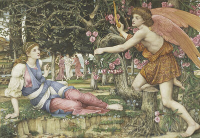 John Roddam Spencer Stanhope, 'Love and the Maiden', 1877
