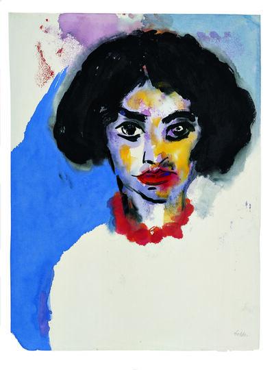 Emil Nolde, 'Frau T. mit roter Kette', 1930