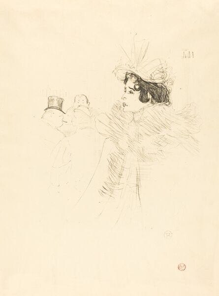 Henri de Toulouse-Lautrec, 'Miss May Belfort in the Irish and American Bar, rue Royale (Miss Belfort Belfort au Irish and American Bar, Rue Royale)', 1895