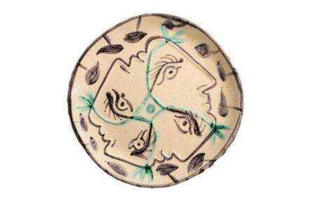 Pablo Picasso, 'Pablo Picasso Madoura Ceramic Plate 'Quatre profils enlacés,' Ramié 86', 1949
