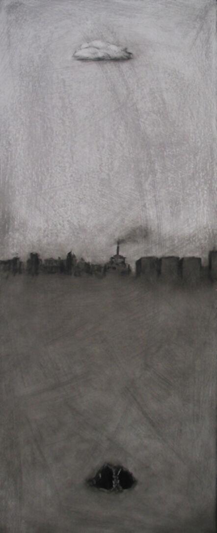 Marc Barker, ''Cloud Cave,' Monochromatic Urban Landscape, by Marc Barker, Oil on Panel Painting', 2007