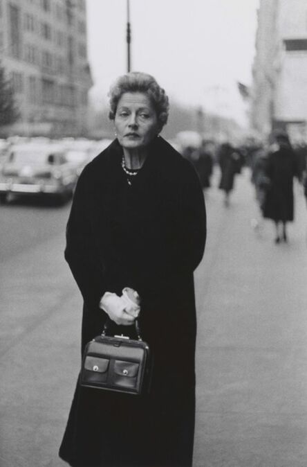 Diane Arbus, 'Woman with white gloves and a pocket book, N.Y.C. ', 1956
