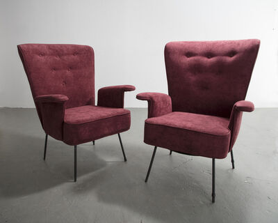 Carlo Hauner, 'Pair of High-Backed Armchairs ', 1950s