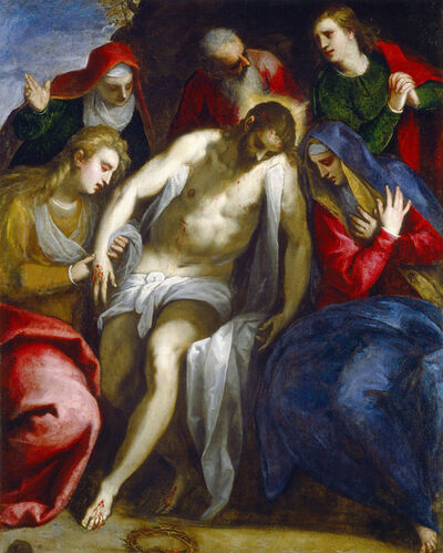 Jacopo Palma il Giovane, 'Lamentation', ca. 1620