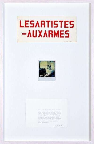 Vlado Martek, 'Les artistes aux armes', 1982