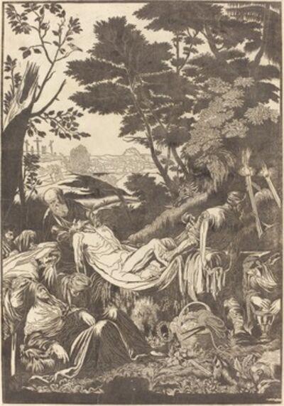 John Baptist Jackson after Jacopo Bassano, 'The Entombment [recto]', 1739