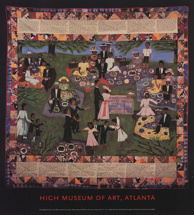 """Faith Ringgold, 'Faith Ringgold - Church Picnic Story Quilt - Offset Lithograph 42"""" x 38""""', Unknown"""