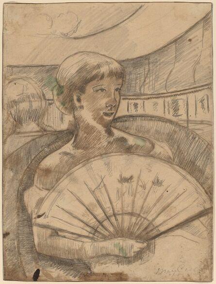 Mary Cassatt, 'In the Opera Box (No. 3) [recto]', 1880