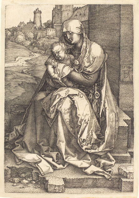 Albrecht Dürer, 'The Virgin and Child Seated by the Wall', 1514