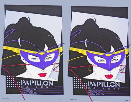 Patrick Nagel, 'Papillon Gallery, Art Nouveau, Art Deco, Los Angeles,  - Rare Double Print Edition', 1981