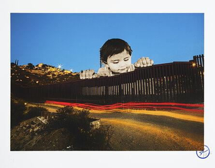 JR, 'GIANTS, Kikito, September 6, 2017, 7.27 p.m., Tecate, Mexico - U.S.A., 2017'
