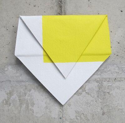 Luciano Figueiredo, 'Relevo (amarelo, branco)', 2014